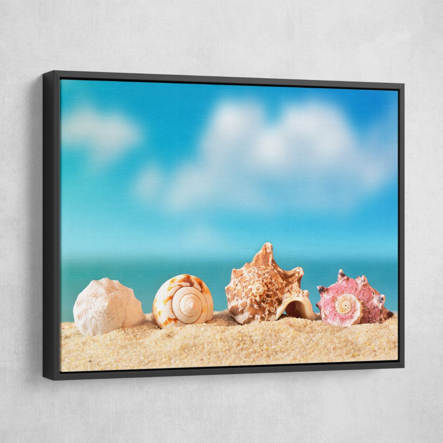 Seashells living room wall art