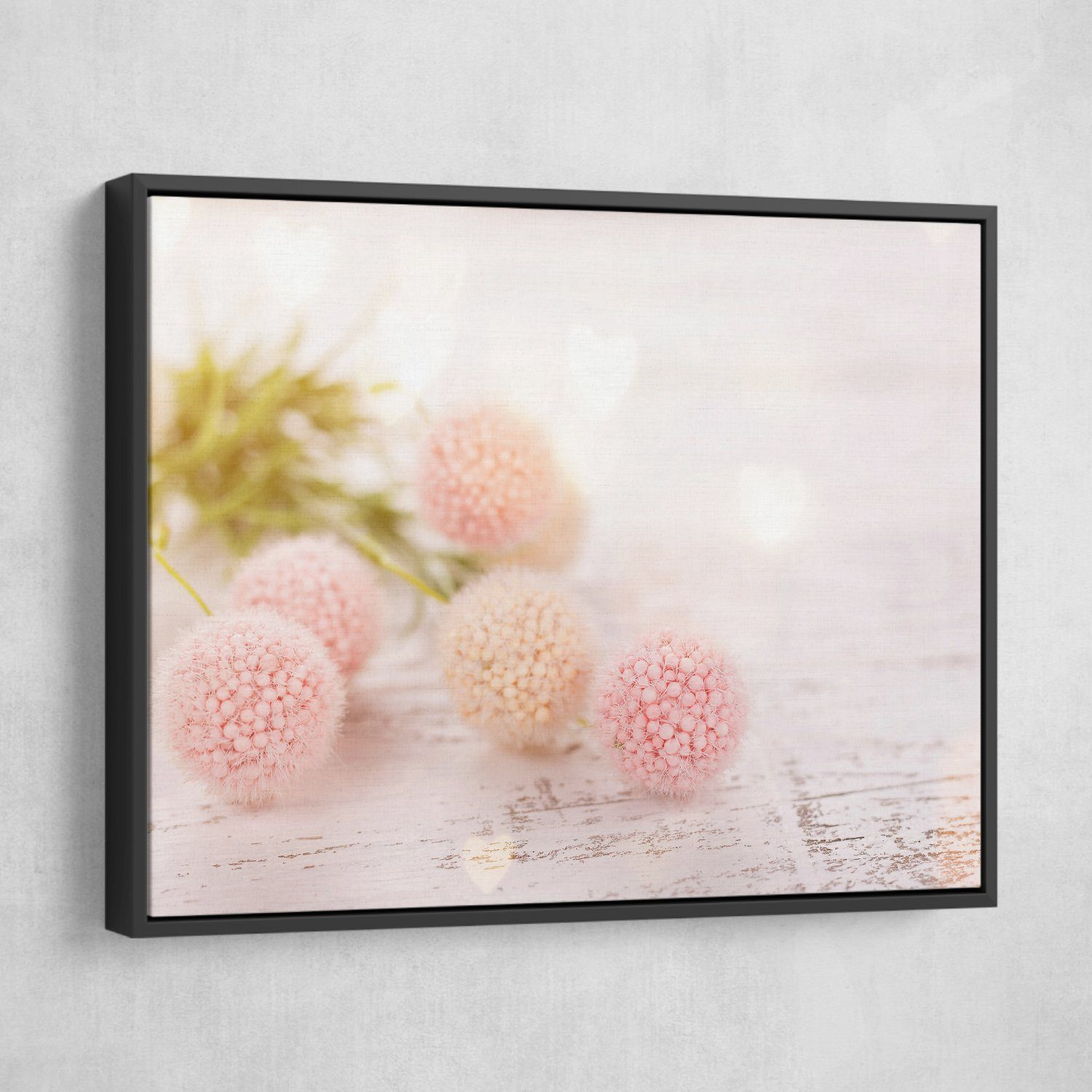 Flower Ball wall art black frame