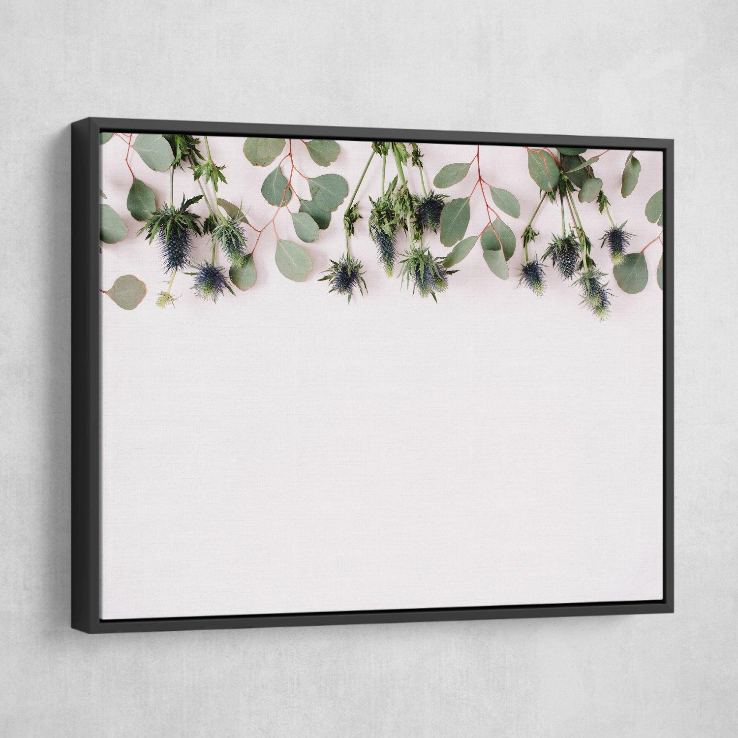 Eucalyptus wall art black frame