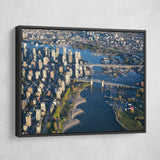 Canada Downtown View wall art black frame