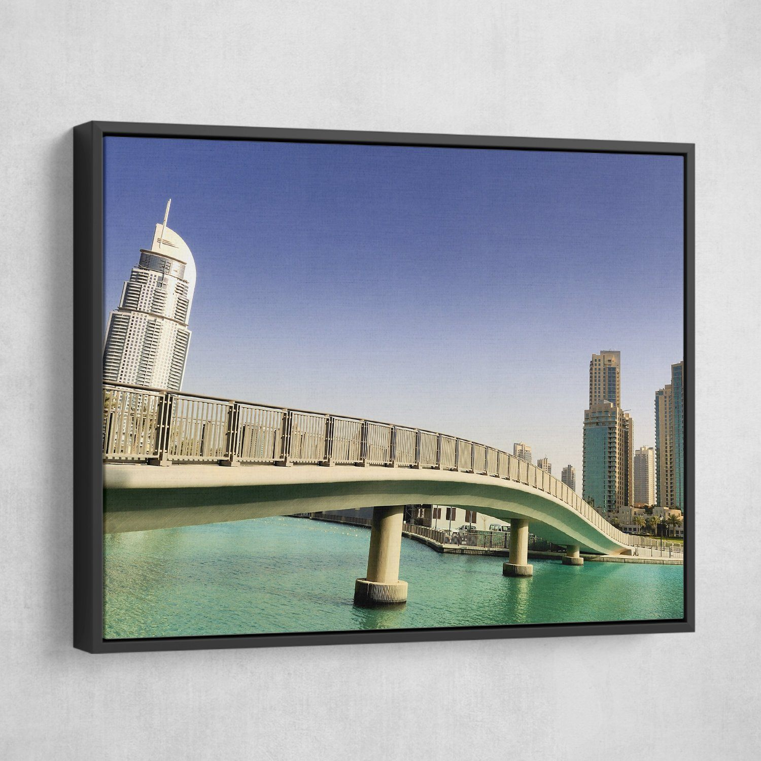 Footbridge In UAE wall art black frame