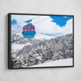 Cable Car wall art black frame