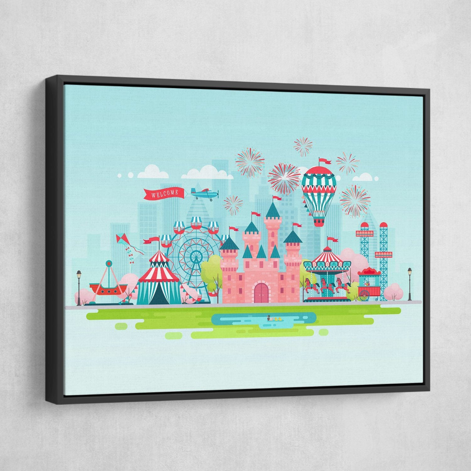 Kids bedroom wall art