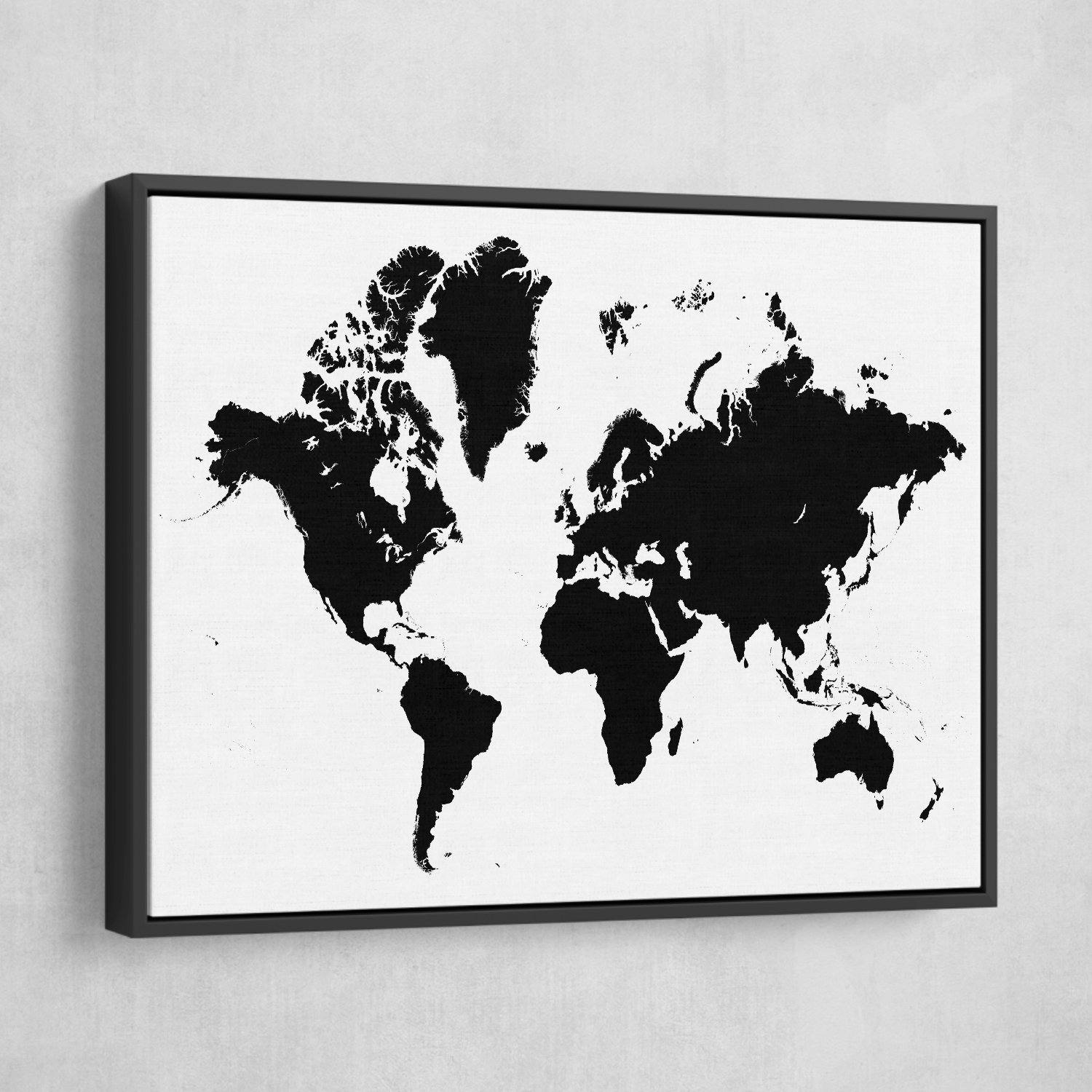 minimalist world map art