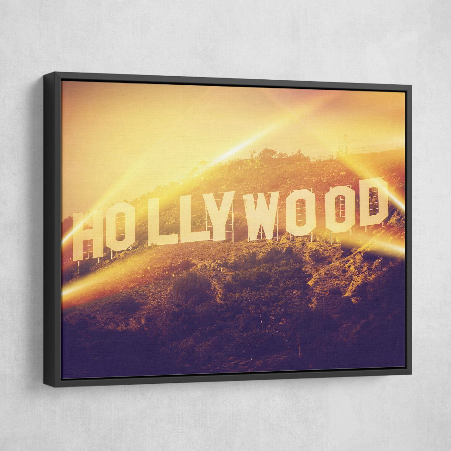 Hollywood wall art black frame