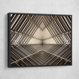 metal structure wall art black frame
