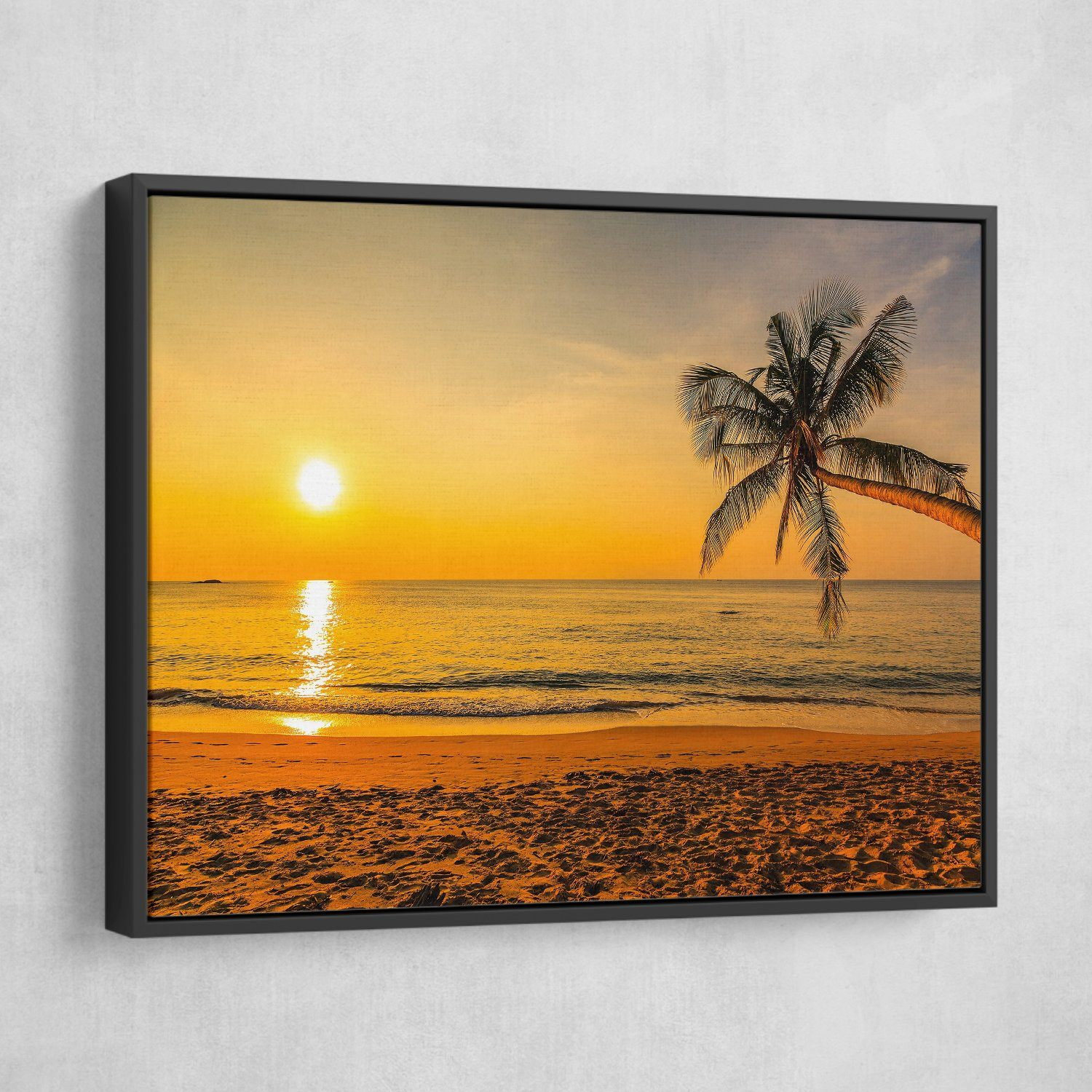 Sunset by the Beach living room wall art