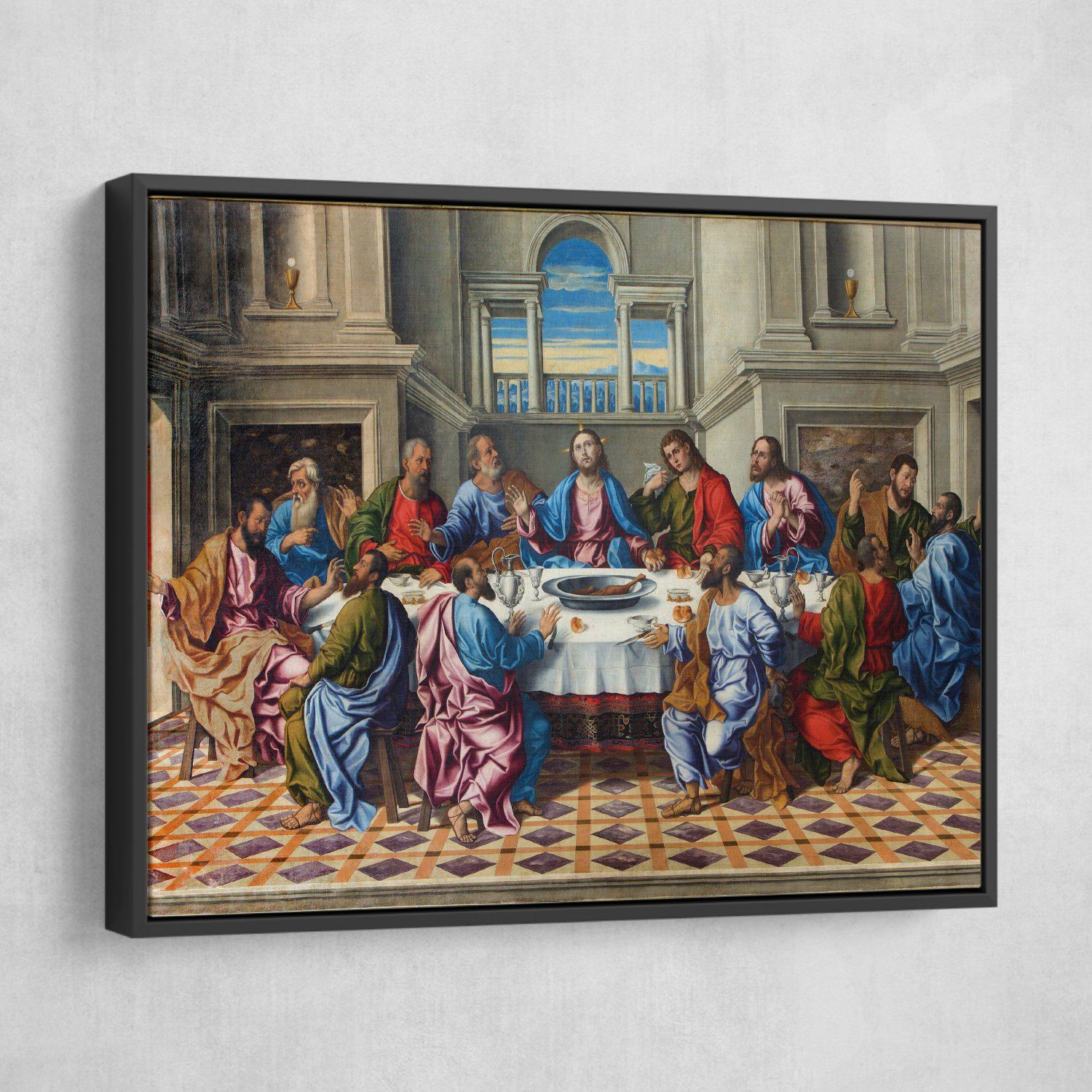 The Last Supper wall art black frame