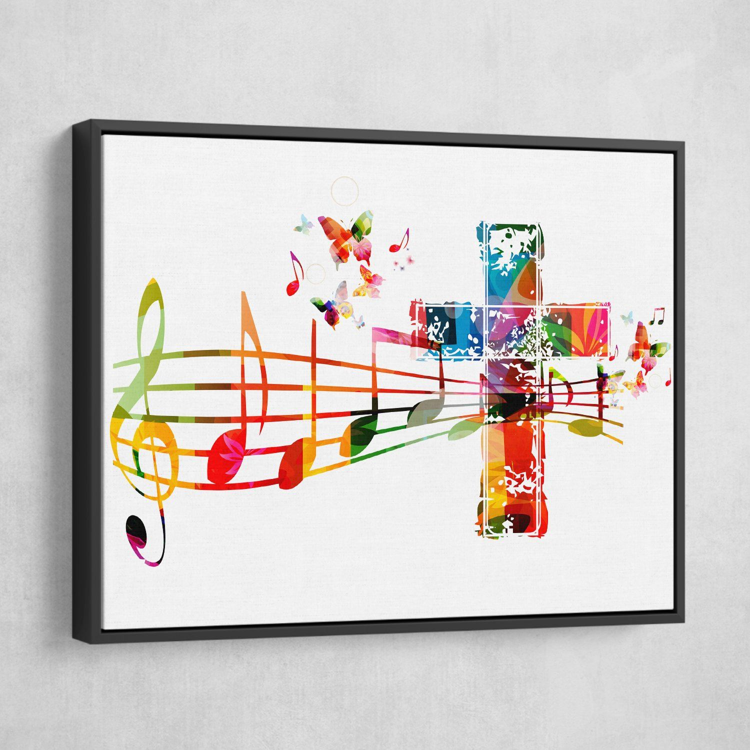 Sound of the Cross wall art black frame