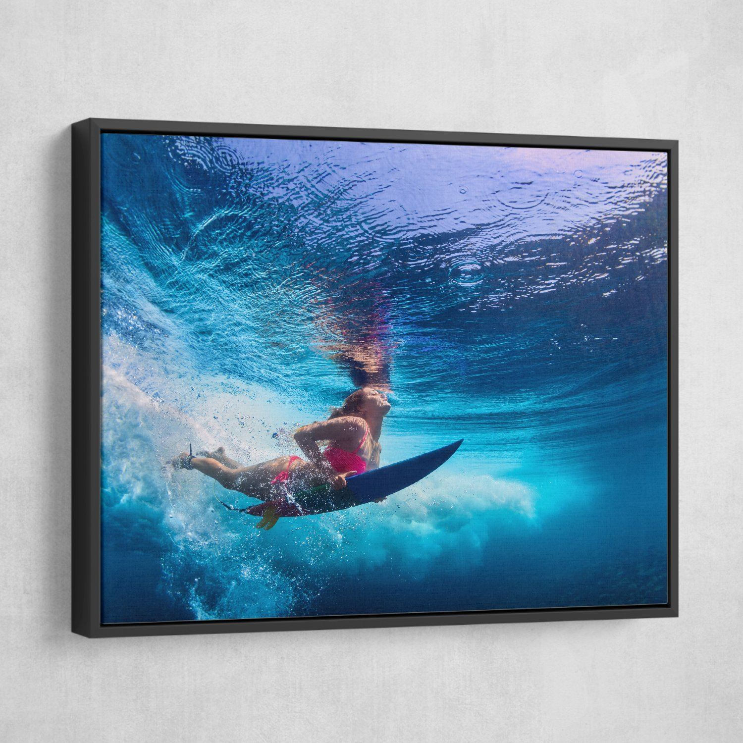 Surfing wall art