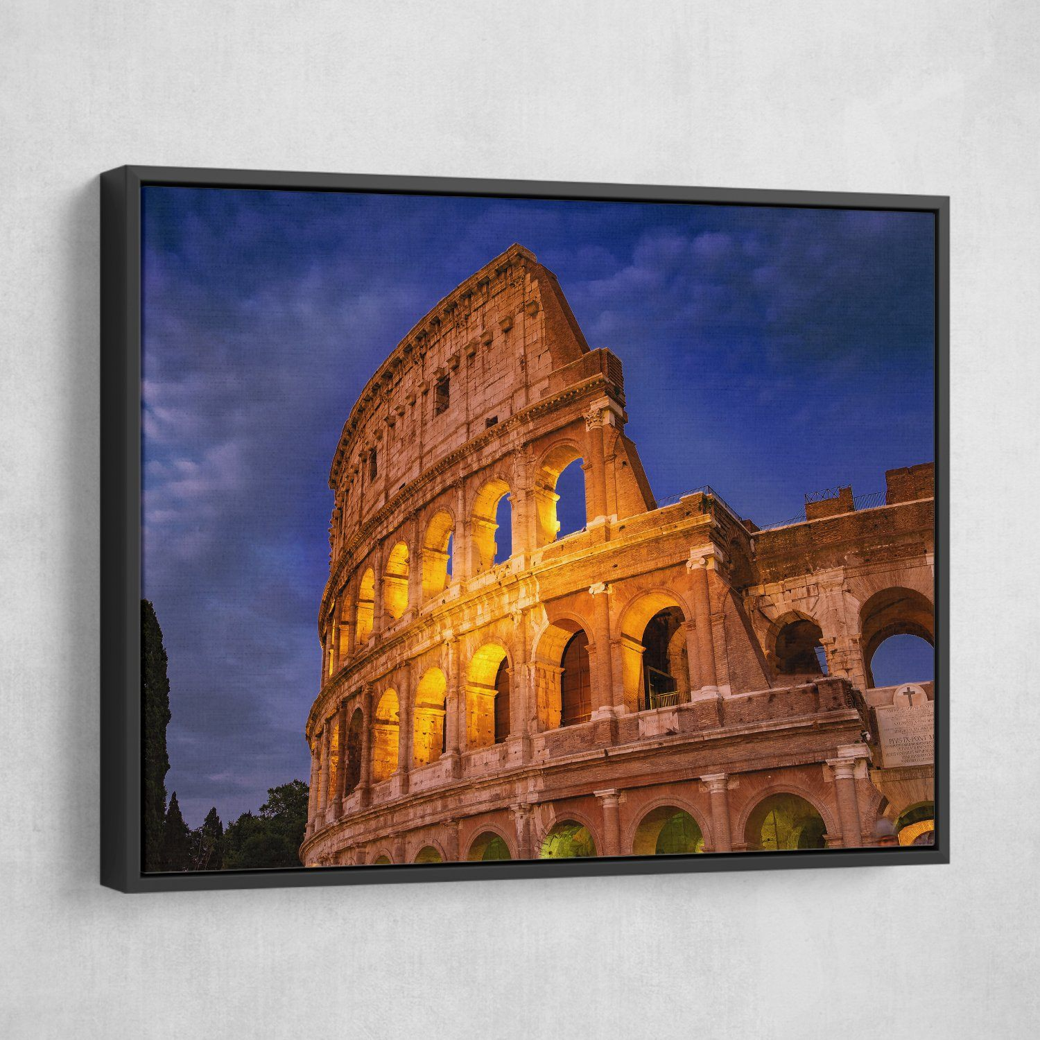 Colosseum wall art black frame