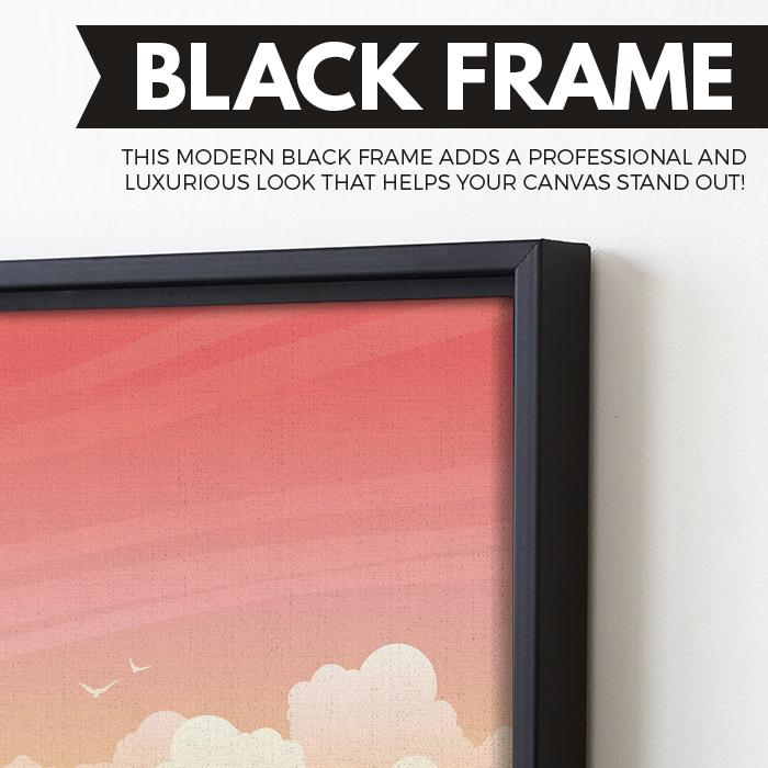 black frame Tropical Island wall art