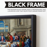 The Last Supper wall art black floating frame