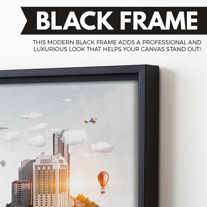 In the Palm of Your Hand wall art black floating frame