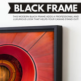 Spiral Staircase wall art black floating frame