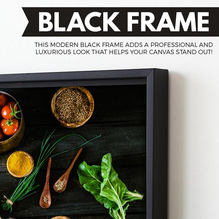 Bio Healthy Food wall art black floating frame