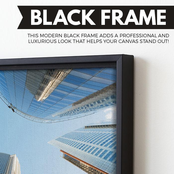 Sydney Skyscrapers wall art black floating frame