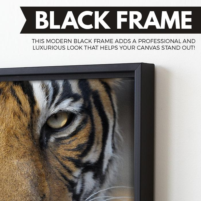 Bengal Tiger wall art black frame