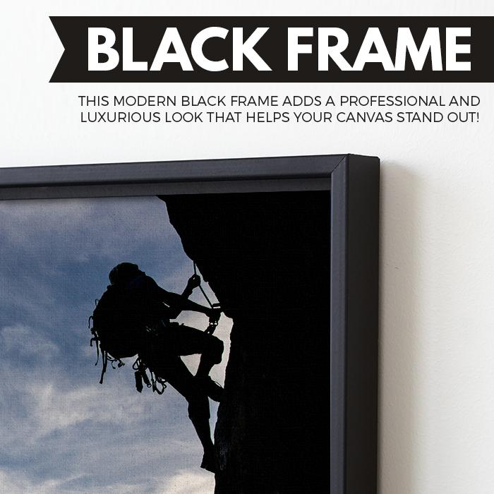 Mountain Climber wall art black floating frame