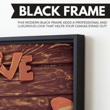 Socks for Love wall art black frame