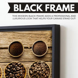 Coffee Beans wall art black frame