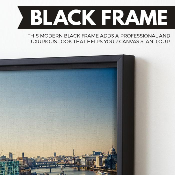 Thames and London City wall art black floating frame