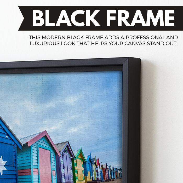 Australia Flag House wall art black floating frame