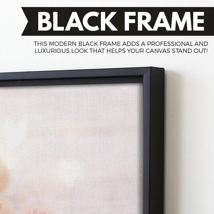 Flower Ball wall art black floating frame