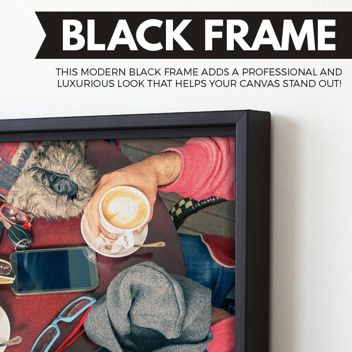 friends and coffee wall art black frame