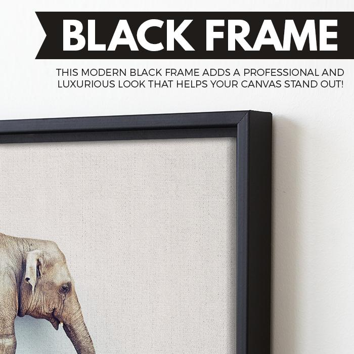 black floating frame