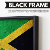 Jamaican Flag painting art black floating frame