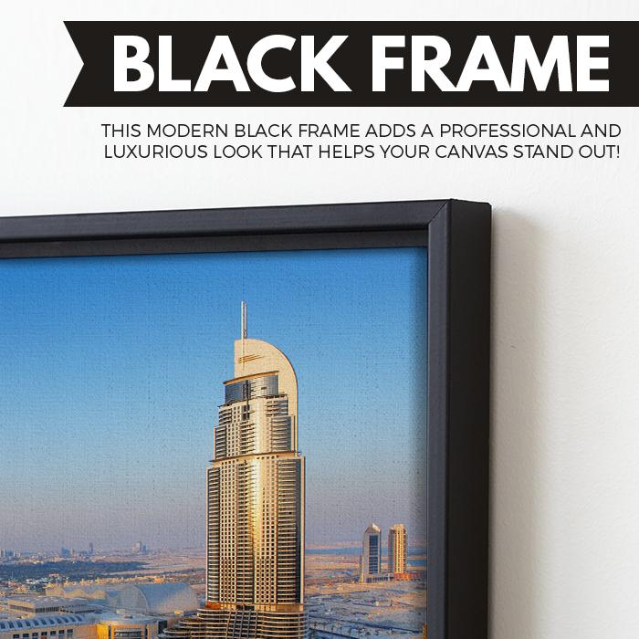 Downtown Dubai wall art black floating frame