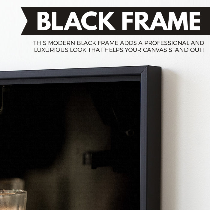 Coffee Machine wall art black frame
