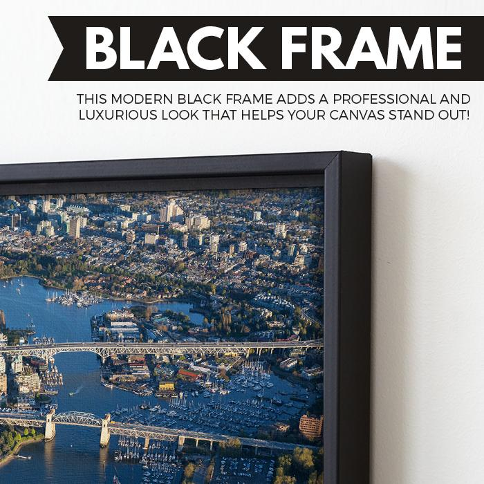 Canada Downtown View wall art black floating frame