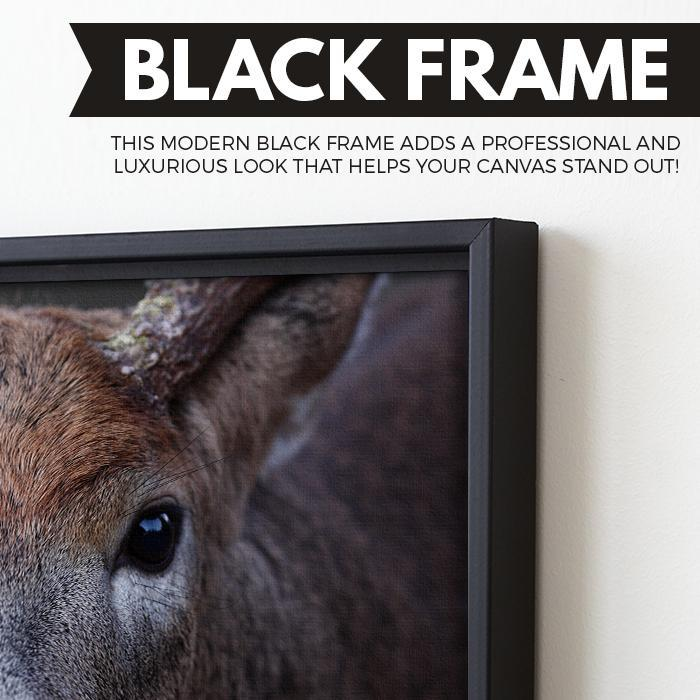 Buck wall art floating frame