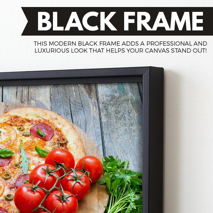 Pizza Lover wall art black floating frame