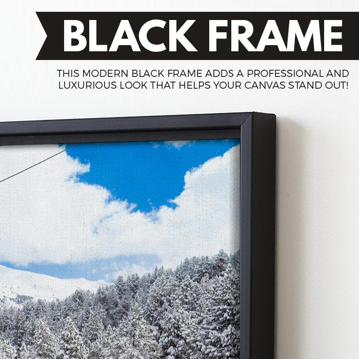 Cable Car wall art black floating frame