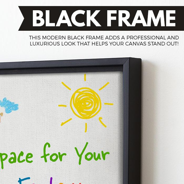 kid painting wall art black frame