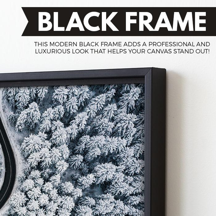 Snow Forest wall art black floating frame