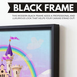 FairyTale Palace wall art black floating frame