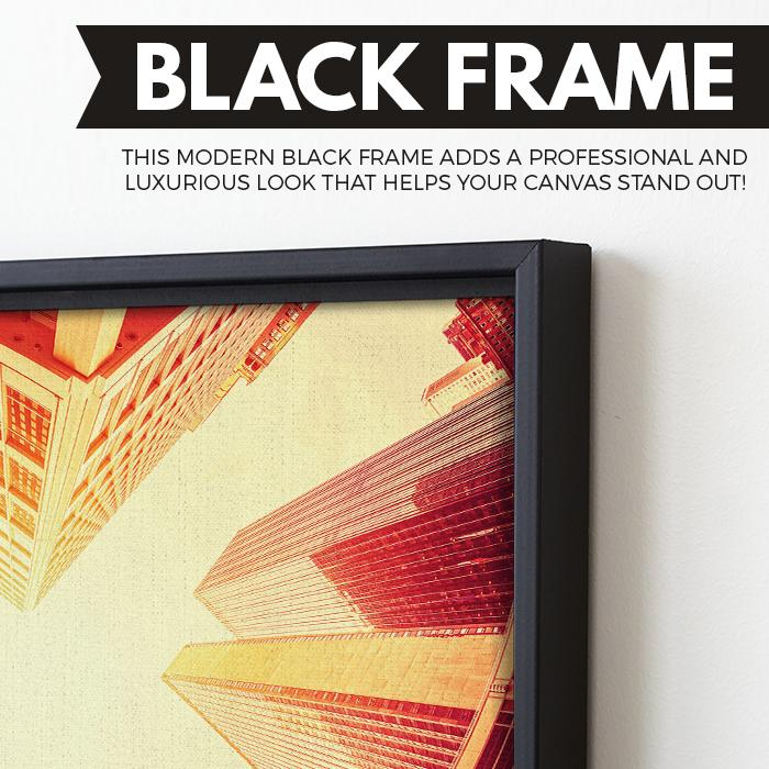 Manhattan wall art black floating frame