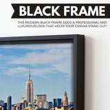 Statue of liberty canvas art black frame