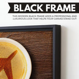 airplane coffee wall art black frame