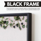 Eucalyptus branches  wall art black frame