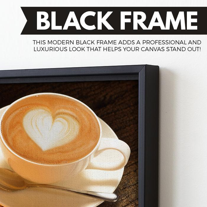 Some Bread and Latte wall art black frame