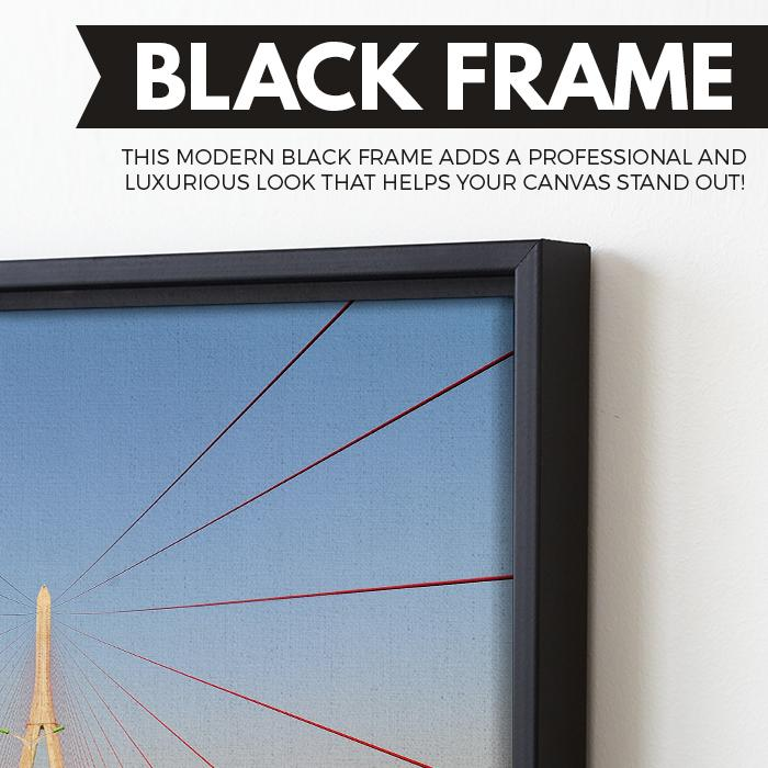 Structural Bridge wall art black frame