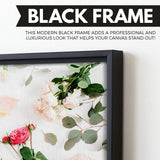 Floral wall art black frame