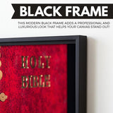 The Holy Bible art black floating frame