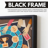Board Game wall art black floating frame