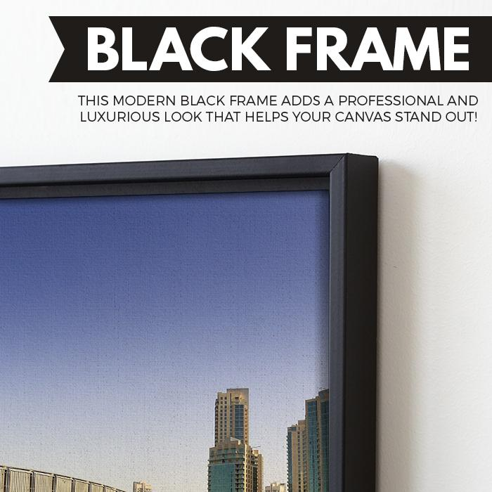 Footbridge In UAE wall art black floating frame